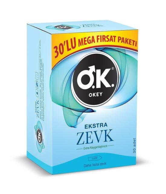 OKEY Ekstra Zevk 30'Lu Prezervatif