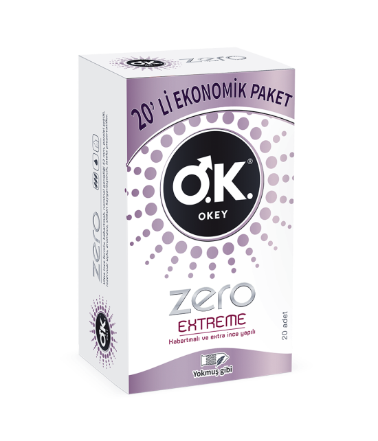 OKEY Zero Extreme 20'li Prezervatif